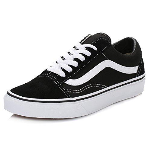 Vans Old Skool, VD3HY28, Unisex-Erwachsene Sneakers, Schwarz (Black/White), 46 EU