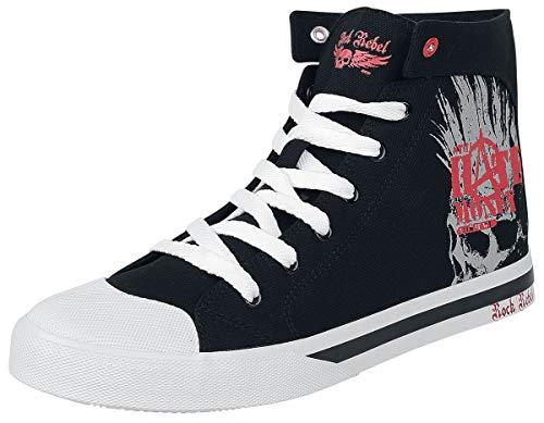 Rock Rebel by EMP Walk The Line Unisex Sneaker high schwarz EU39 Canvas, Gummisohle Basics, Rockwear