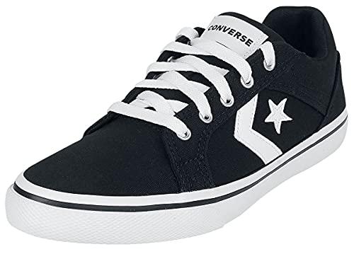 Converse Cons EL Distrito - OX Unisex Sneaker schwarz/weiß EU39 Textil Basics, Casual Wear, Streetwear