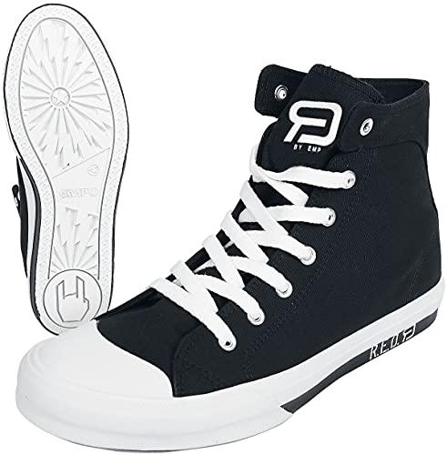 RED by EMP Walk The Line Unisex Sneaker high schwarz/weiß EU45 Textil Basics, Rockabilly, Streetwear