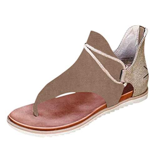 2020 Latest Sommer Die beliebtesten -Schuhe für Damen Comfy Zehentrenner Sandalen Casual Vintage Flache T Strap Slip On...