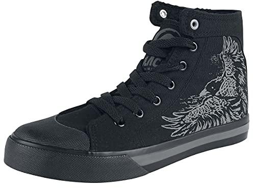 Black Premium by EMP Gefütterte Sneaker mit Rabenprint Unisex Sneaker high schwarz EU40