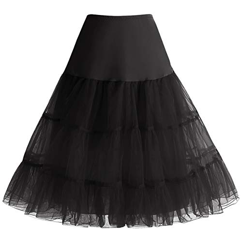 Bbonlinedress Sommerkleid Damen Petticoat Unterrock Crinoline Underskirt Reifrock Rock für 50er Vintage Cocktailkleid...