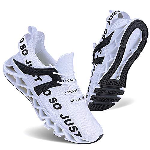 Vivay Damen Laufschuhe Walking Athletic für Frauen Casual Slip Fashion Sports Outdoor-Schuhe, Weiß , 39 EU