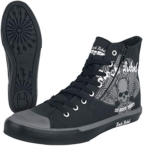 Rock Rebel by EMP Walk The Line Unisex Sneaker high schwarz EU41 Textil Biker, Rockwear