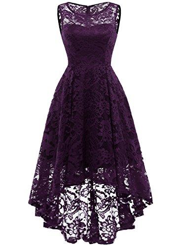 MuaDress 6006 Elegante Abendkleider Cocktailkleider Damenkleider Brautjungfernkleider aus Spitzen Knielange Rockabilly...