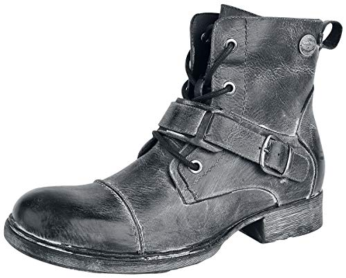 Rock Rebel by EMP Last Man Standing Männer Boot grau EU43 Leder Basics, Rockwear