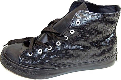 Unisex Schuhe Flechtoptik Boots Turnschuhe Schwarz Sneakers 44