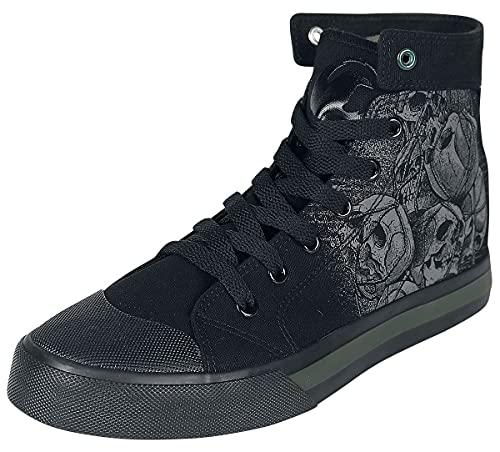 Black Premium by EMP Schwarze Sneaker mit Skull-Print Unisex Sneaker high schwarz EU43 Textil Basics